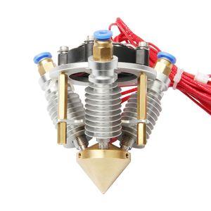 Freeshipping 24V Elmas Hotend Mix renkli Rostock Delta 3D Printer 0.4mm / 1.75mm için sıcak sonu Extruder 3-in-1-out