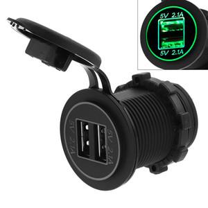 5V 4.2A Adaptador de cargador USB impermeable de doble apertura para Auto / Moto / Barco CEC_62P