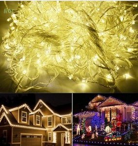 IP44 50M 500 LED Warm White Rosso Giallo Blu Purple Pink MultiColor chain fairy String Lights per vacanza Luce natalizia AC110V / 220V