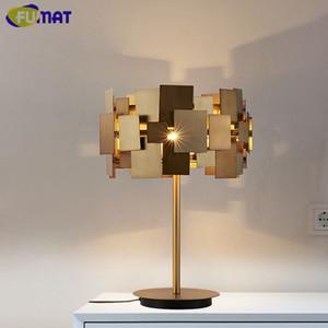 Fumat designer deformável candeeiro de mesa lâmpada de mesa de aço inoxidável moderna de ouro sala de estar quarto luz moda cabeceira candeeiro de mesa