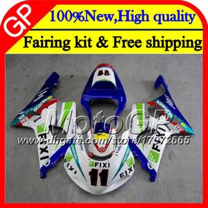 본체 K2 SUZUKI GSXR 용 1000 CC K2 GSX-R1000 00 02 28GP8 청색 녹색 GSXR1000 00 01 02 GSXR-1000 GSX R1000 2000 2001 2002 오토바이 페어링