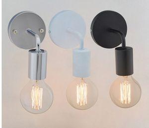 Loft Lâmpadas de Parede de Candeeiro de Parede de Lâmpadas de Lâmpadas de Lâmpadas de Parede Do Vintage Industrial para Decoração de Casa E27 Preto / Cor Branca