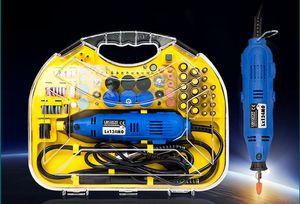 Vitesse variable outil rotatif broyeur électrique 220 V 130W électrique Mini Drill avec 211pcs accessoires Outils polisseuse T03030
