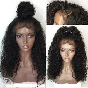 360 кружева фронтальный парик бразильская волна воды 130% плотность человеческих волос парики для черных женщин не Реми 360 кружева парик предварительно сорвал