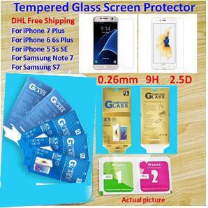 حزمة الورق Iphone 7 7plus Iphone 6s 6s plus واقي شاشة صلب مقاوم للكسر مضاد للكسر لجهاز نوت 5 Samsung S7 S6 S5 Film
