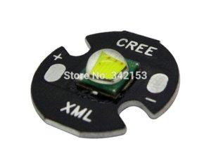 5PCS / LOT Cree XM-L T6 16MM 10W Led Beads Branco 6000 - 6500K 3.7V 700mA - 3000mA para lanterna Torch Light