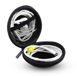 Cartão SD caso Universal Nylon Zipper Bag fone de ouvido cabo Mini Box Portátil Coin Purse Headphone Key Bag Bolsa de Transporte bolso da tampa do caso
