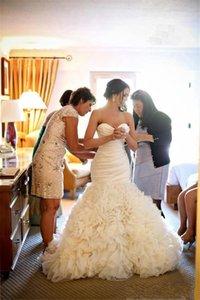 2016 Новый Элегантный труба русалка свадебное платье Свадебные платья с судом поезд с плеча органза халат де mariage
