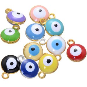 500 pcs de prata banhado a ouro evil eye charme turco evil eye evil eye jóias, proteção, sorte charme, descobertas hippie