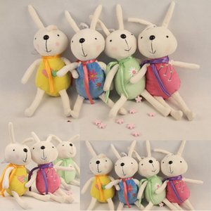 13см Мягкие плюшевые игрушки кролика 4 цвета милый кролик куклы Pandent сумка автомобилей Главная Pandent фаршированный Кролик Куклы Детские игрушки