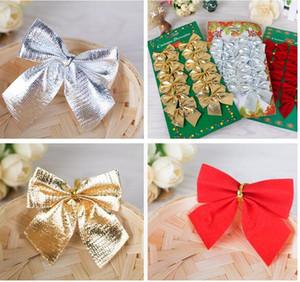 5 * 6 cm Pretty Kırmızı Yay Noel Ağacı Dekorasyon için Parti Dekorasyon Yılbaşı Ağacı Noel Süsler Sıcak Satış