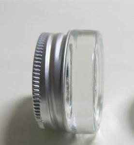 5 г ясно матовое стекло крем банку с серебряной алюминиевой крышкой, 5 г косметические банку,упаковка для образца/крем для глаз,5 г мини стеклянная бутылка