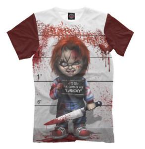 Las nuevas mujeres de la moda / los hombres 3D imprimen la película Chucky Doll Child's Play las camisetas cortas ocasionales de la manga del horror
