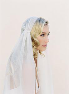 Neue hohe Qualität Bester Verkauf Fingertip Länge Weiß Elfenbein Schnittkante Schleier Braut Kopfschmuck Für Hochzeitsschleier Juliet Cap