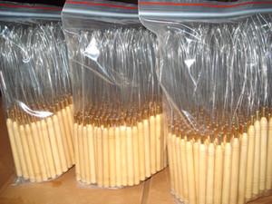 Envío gratis 100 piezas bucle tirando aguja micro extensiones de cabello herramientas para mango de madera enhebrador