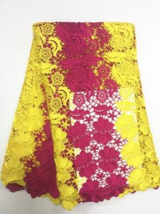 quality guarantee 5 yards per lots different colours available fashionable water soluble guipure cord lace fabric GYMW055