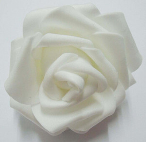 Wholesale 100pcs 7cm Handmade Artificial Foam Rose Flower Heads For Wedding Decoration Kissing Ball Free Shipping