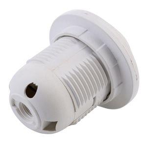 البلاستيك حامل قاعدة المقبس E27 المسمار لمصباح LED ضوء 100pcs التي