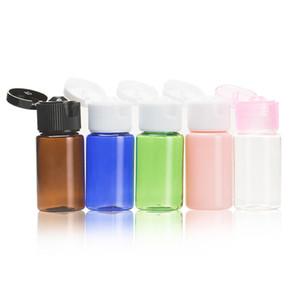 En gros 10 ml flip bouteille, bouteille de toner, bouteille en PET, bouteilles d'emballage cosmétique, bouteilles d'échantillons, variété de couleur, livraison gratuite