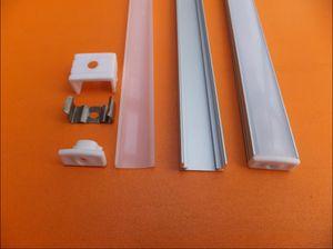 Di trasporto 20set / lot incorporato canale condotto, alloggiamento chiaro ha condotto la barra, il profilo in alluminio per la striscia principale, 12 mm bordo del PWB
