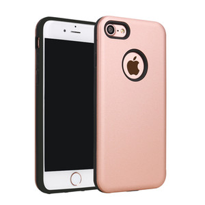 100 unids / lote Armor Dual Layer Hybrid Phone Cases Funda para iPhone 5S 6 6 Plus 7 7 Plus Silicona Plástico Duro TPU