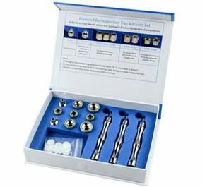 새로운 대체 팁 다이아몬드 Dermabrasion Microdermabrasion 키트 페이스 필링 뷰티 장치 9Tips 3 Wands Cotton Filter