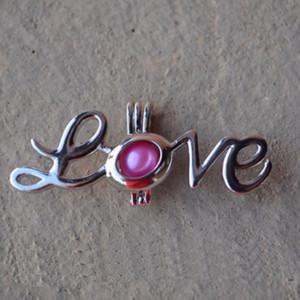I monili all'ingrosso, l'amore di San Valentino possono aprire la collana del pendente della gabbia, la collana della perla di desiderio di amore, colore casuale della perla, trasporto libero