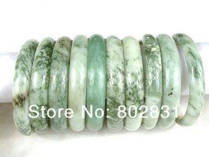 10 PCS Atacado 100% Natural Jade Jóias Pulseiras