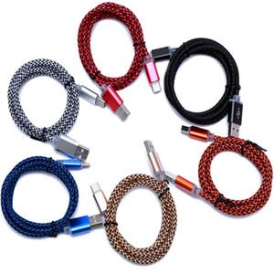 Cavo di ricarica intrecciato in nylon intrecciato tipo C USB di tipo C Connettore di ricarica caricabatterie sincronizzato di tipo C-SS USB-C per Oneplus / One plus 2 LG