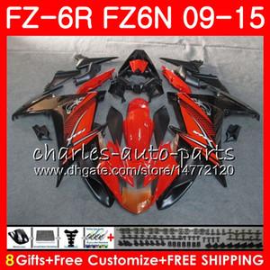 Cuerpo para Yamaha FZ6N FZ6 R FZ-6N FZ6R 09 10 11 12 13 14 15 Negro Naranja 82NO5 FZ-6R FZ 6N FZ 6R 2009 2010 2011 2012 2013 2014 2015