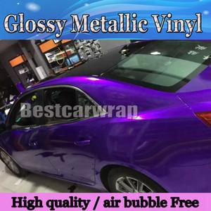 Премиум конфеты блеск полночь фиолетовый винил обернуть автомобиль обертывание с воздушным пузырем бесплатно глянцевый металлический фиолетовый конфеты обернуть фильм размер: 1.52*20 м / рулон