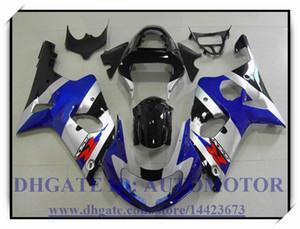 مجموعة حقن جديدة 100٪ مناسبة لمجموعة سوزوكي GSXR1000 2000 2001 2002 GSX-R1000 00 01 02 GSXR 1000 00 01 02 # MX832 BLUE SILVER BLACK