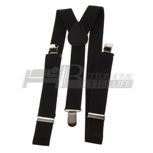 Toptan-1pcs Klipsli Ayarlanabilir Askıları Unisex Pantolon Tamamen Elastik Y-geri Askı kemer Braces