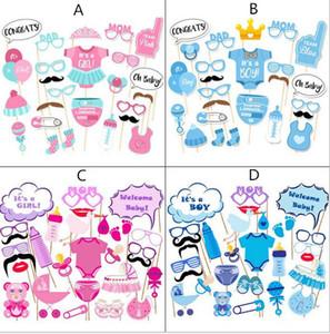 Fotoğraf Standında Sahne Fotoğraf maske kağıt Kart erkek kız Doğum Günü bebek duş Parti Dekorasyon olay hediye