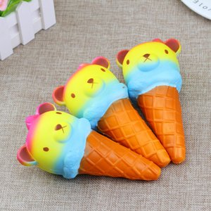 Colorido Jumbo bear kawaii squishy Colorido Rilakkuma Yummy Bear Ice cream Super squishies Teléfono Correas Pan Pastel Juguetes Regalo