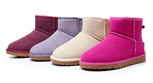 Stivali alti classici da donna di alta qualità WGG 2017 Stivali da donna Stivali da neve Stivali invernali in pelle US FORMATO 5 --- 13