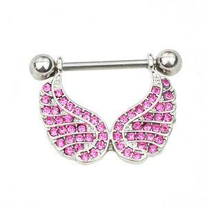D0663 (1 Couleur) Belle Bague de Nipple Nipple Piercing Bijoux 10 Pcs Couleur Rose Pierre Piercing Body Bijoux Livraison
