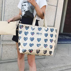 Doppio sacchetto trasparente della borsa della carta kraft Sacchetto della spesa di modo delle borse del PVC di alta capacità Lettera impermeabile viaggio della spiaggia Holidy emoji