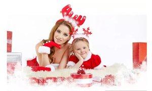 Weihnachten Deer Head Hoop Head Kinder Weihnachten Haarband Red Antler Head Buckle Geschenke Party Dekoration Lieferungen