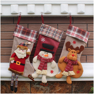 Big Size 3D Santa Claus Gift Bag Kerst Decoratie 2016 Stocking Christmas Tree Ornament