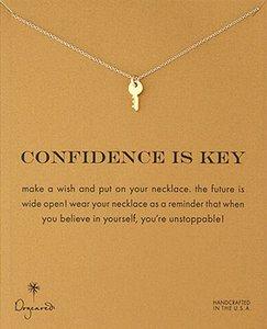 مفتاح قلادة Dogeared قلادة (ثقة هو المفتاح) ، مجوهرات النبيلة والحساسة ، عالية الجودة المختنق القلائد خمر مفتاح قلادة قلادة