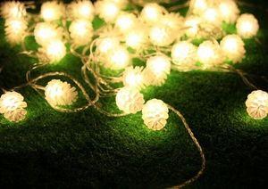 Livraison Gratuite 5 M 20 LED Cône De Pin Chaîne Fée Lumière Arbre De Noël Festival Partie De Mariage Décoration Muliti Couleur Disponible