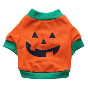 Ropa para mascotas Invierno Perro Cachorro Camisetas Fleece Ropa de abrigo Calabaza linda de Halloween XS-L Warm Pet T Shirt Abrigos al por mayor