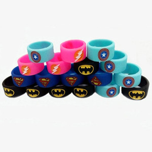 2016 Yeni Superman Batman ile Vape band silikon yüzükler Flaş Kaptan Amerika Logo rda rba rta tankı atomzier mod korumak için çeşitli renkler mod