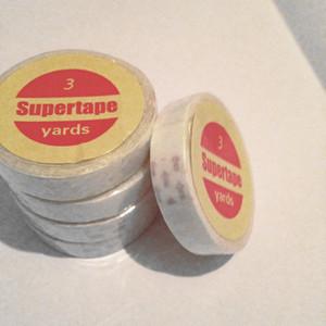 Venta al por mayor de adhesivo 1 cinta Rollo de Agua A Prueba de agua de Doble Cara Cinta de Extensión Del Pelo de la PU Peluca Humana Pegamento Adhesivo Cintas Herramientas de Estilo tiene 90-180 días