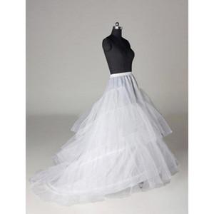 Strati Tulle 3 Hoops Petticoat Crinoline per abiti con treno Abiti da sposa taglie forti Sottogonna Petticoat Slip CPA211