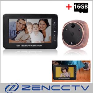 4.3-дюймовый монитор видео дверной звонок камеры 1.3 MP 160 градусов дверной глазок дверной звонок домашней безопасности 16 ГБ SD карты записи