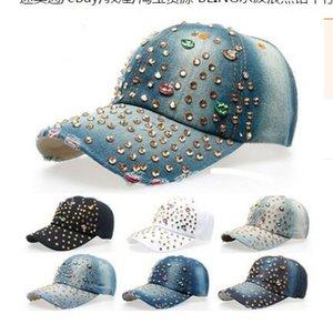 chapeau de soleil adulte visière hotfit chapeau de strass BLING vagues d'eau casquette de cowboy casquette de baseball en cristal