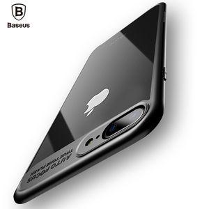Cas Baseus De Luxe Pour iPhone 7 6 6s Ultra Mince Capinhas PC TPU Housse En Silicone Pour iPhone 7 6 s 6s Plus Coque Fundas