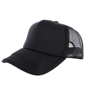 Al por mayor-Acogedor Unisex Atractivo Casual Hombres Mujeres Verano Sombrero Gorra de béisbol sólida Camionero Malla Visera en blanco Sombreros ajustables